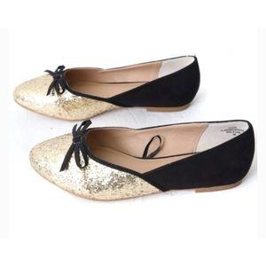 Torrid GlitterFlats Ballerina Ballet Shoes Sz10W